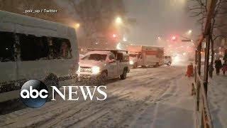 New York-area commuters stranded for hours amid snow - ABCNEWS