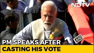"""Fulfilled My Duty By Casting My Vote"": PM Modi - NDTV"