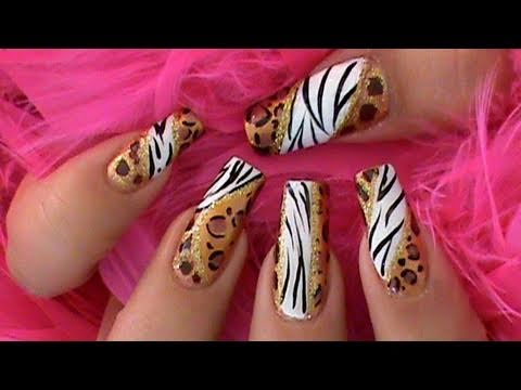 Animal Prints Africa Nail Art Inspired Design Tutorial
