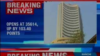 BSE Sensex at 35,614, up by 103.40 points; Nifty at 10,909.55 - NEWSXLIVE