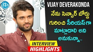Vijay Deverakonda Exclusive Interview Highlights | Frankly With TNR | iDream Telugu Movies - IDREAMMOVIES