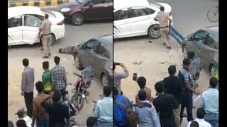 Gunman of additional sessions judge  shot  judge's wife & son in Gurugram's Sector-49: CCTV FOOTAGE - ITVNEWSINDIA