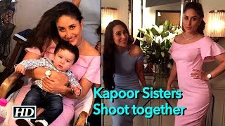 Kapoor Sisters shoot together, Taimur pays visit - BOLLYWOODCOUNTRY