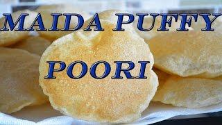Maida Puffy Poori | Puri with Maida recipe in Tamil