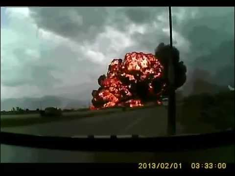 Bagram Airfield Plane Crash caught on tape Boeing 747