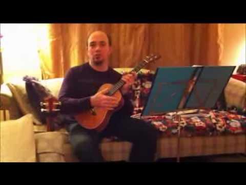 Baritone ukulele demo with gCeA octave uke tuning