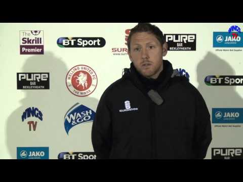 WingsTV Jamie Day talking after Welling United V Hereford United