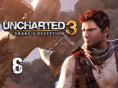 "Uncharted 3 Walkthrough - Part 6 ""Escape!"" (Let's Play, Playthrough)"