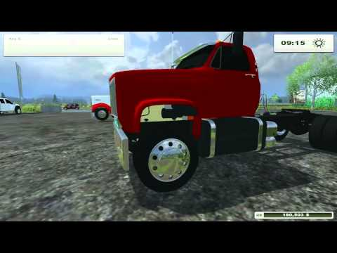 Farming Simulator 2013 Mods- Kenworth W900, F450, GMC Topick Semi