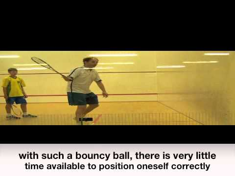 Squash video lessons for kids improving timing using a racquetball