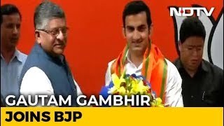 Former Cricketer Gautam Gambhir Joins BJP Ahead Of Election - NDTV