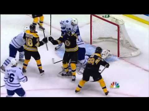 Milan Lucic wrister goal 4-3 May 13 2013 Toronto Maple Leafs vs Boston Bruins NHL Hockey