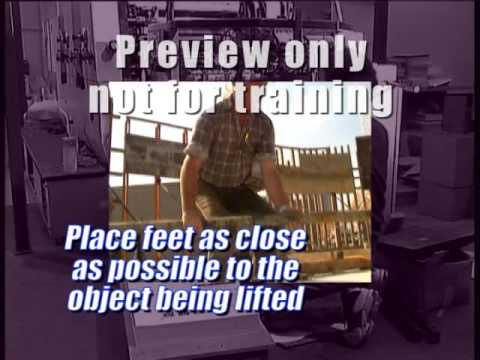 Manual Handling Video - Safety Toolbox Talks