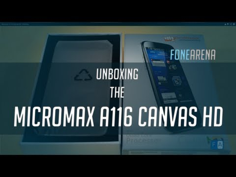 Micromax A116 Canvas HD Unboxing