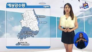 [날씨정보] 08월 13일 11시 발표_수화방송