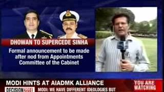 Defence Ministry moves file for appointment of a new Navy Chief - NEWSXLIVE