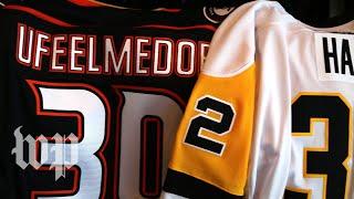 The stories behind Mike Scott's custom NHL jerseys - WASHINGTONPOST