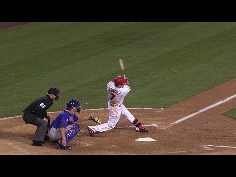 NYM@LAA: Cowgill hits a solo shot to left