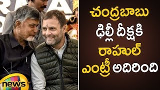 Rahul Gandhi Grand Entry At Dharma Porata Deeksha In Delhi | AP Special Status Updates | Mango News - MANGONEWS