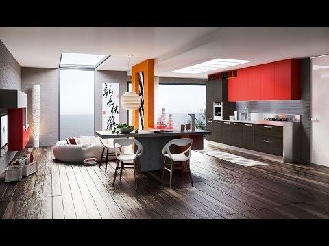 Diseño de cocinas modernas al estilo arte pop