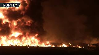 Moment of fatal pipeline explosion in Mexico (WARNING: DISTURBING) - RUSSIATODAY