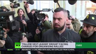 'Yellow vest leader' Drouet facing charges for organizing rallies - RUSSIATODAY