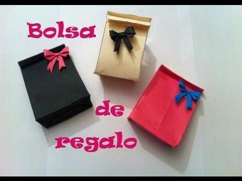 Origami - Papiroflexia. Bolsita de regalo, muy fácil