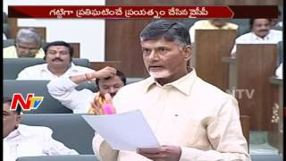 AP CM Chandrababu Naidu Fires On YCP @ AP Assembly Budget Sessions || NTV - NTVTELUGUHD