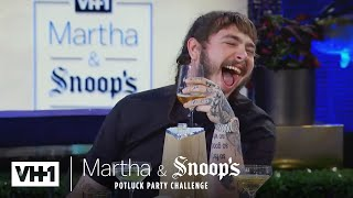 Martha Stewart Wonders Why Post Malone Came To Dinner | Martha & Snoop's Potluck Dinner Party - VH1