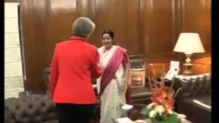 24, Nov 2014  - Director General of UNESCO meets India's Foreign Minister - ANIINDIAFILE