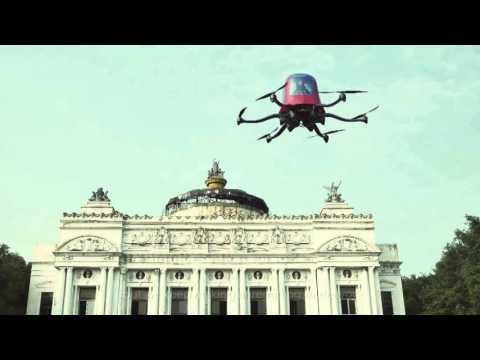 Testy drona EHang 184.