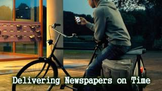 Royalty Free :Delivering Newspapers on Time