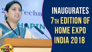 Textiles Minister Smriti Irani Inaugurates 7th Edition of Home Expo India 2018 | Mango News - MANGONEWS