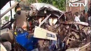 मध्य प्रदेश के मुरैना में ट्रैक्टर-जीप की टक्कर, 12 की मौत - NDTVINDIA