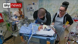 Parents make emotional plea to find baby a new heart - SKYNEWS