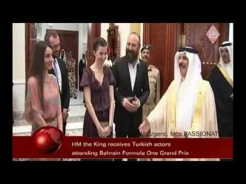 Halit Ergenc awarded by Bahrain's King Hamad bin Isa Al-Khalifa 20.4.2013