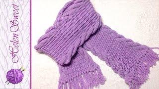 Вязание шарфа. Вязание спицами. Как связать шарф?