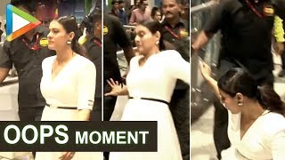 Kajol had an OOPS moment as she was heading for the event!!! - HUNGAMA