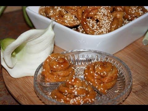 Moroccan Pastry Chebakia Recipe - Recette Pâtisserie Marocaine Chebakia Épaisse - الشباكية