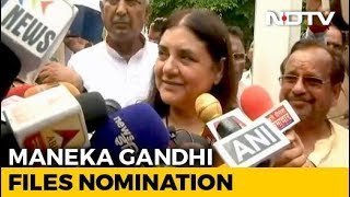 Maneka Gandhi Files Nomination From Sultanpur Lok Sabha Seat - NDTV
