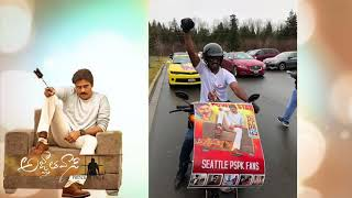 PSPK fans Hungama in Microsoft and Amazon head quarters in Seattle for Agnyaathavasi - idlebrain.com - IDLEBRAINLIVE