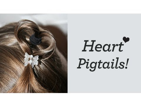 Heart Pigtails (LuvPiggies) | Cute Girls Hairstyles 3:07