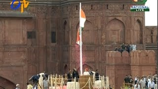 PM Modi Unfurls The Tricolour From The Ramparts Of The Red Fort - ETV2INDIA