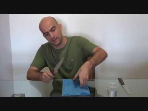 Como afiar facas - Afiação de facas - O método mais simples