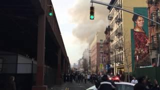 Explosión causa el derrumbe de un edificio en Manhattan