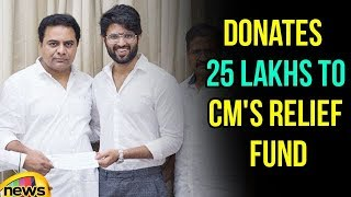 Vijay Devarakonda Donates Money he got from Auctioning Filmfare Award CM's Relief Fund | Mango News - MANGONEWS
