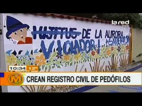 Crean registro civil de pedófilos