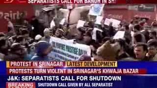 Violent protest against Charlie Hebdo raises in Jammu and Kashmir - NEWSXLIVE