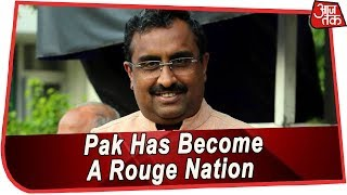 BJP General Secretary Ram Madhav Says Pakistan Has Become A Rouge Nation | Pulwama Attack - AAJTAKTV