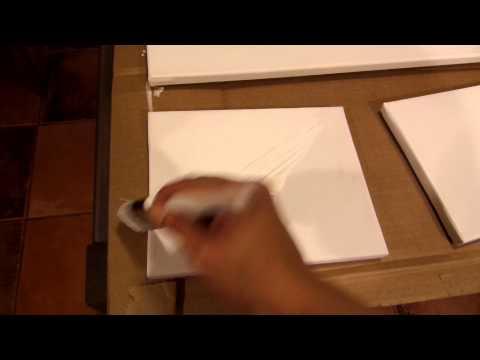Como aplicar gesso a un canvas o lienzo